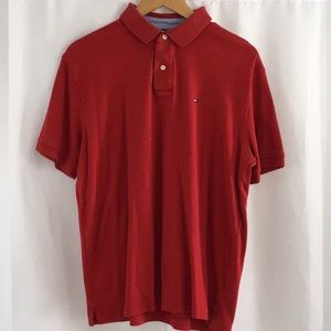Tommy Hilfiger Red Polo Shirt Size Large P5